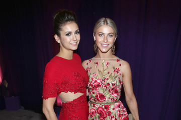 Julianne Hough Nina Dobrev Arrivals at the Elton John AIDS Foundation Oscars Viewing Party — Part 2