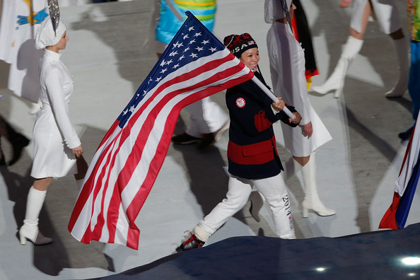 Julie Chu - 2014 Winter Olympic Games - Closing Ceremony