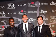 (L-R) Professional Soccer players Maurice Edu, Oguchi Onyewu and Chris Pontius attend the Erving Golf Classic Black Tie Ball sponsored by Delta Airlines & Pond LeHocky Law, with cocktails presented by Tanqueray No. TEN. Produced by PGD Global on September 10, 2017 at The Logan in Philadelphia, Pennsylvania.