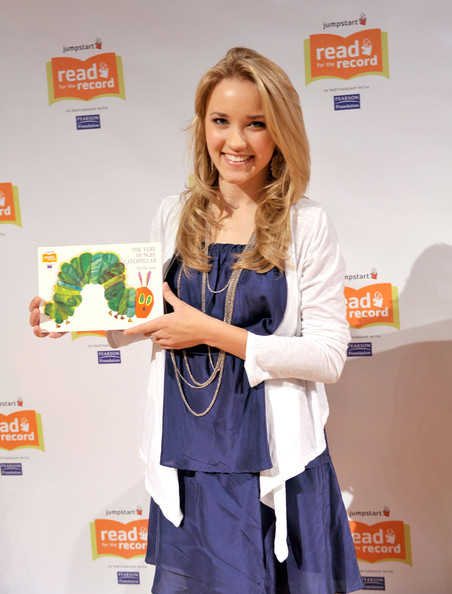 Actress Emily Osment attends Jumpstart?s Read for the Record at the LA Public Library on October 8, 2009 in Los Angeles, California.