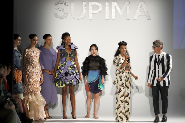11th Annual Supima Design Competition [fashion,fashion model,runway,fashion design,fashion show,event,dress,haute couture,design,model,ambrose,buxton midyette,lili shi,supima design competition,new york fashion week,runway,new york city]