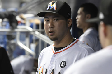 Junichi Tazawa St Louis Cardinals v Miami Marlins