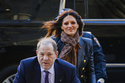 Harvey Weinstein arrives to with lawyer Donna Rotunno court on February 19, 2020 in New York City. Weinstein has pleaded not-guilty to five counts of rape and sexual assault. He faces a possible life sentence in prison if convicted.
