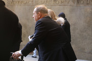 Harvey Weinstein exits a Manhattan court house as a jury continues with deliberations on February 21, 2020 in New York City. The judge has asked the jury to keep deliberating after they  announced today that they are deadlocked on the charge of predatory sexual assault. Weinstein, a movie producer whose alleged sexual misconduct helped spark the #MeToo movement, pleaded not-guilty on five counts of rape and sexual assault against two unnamed women and faces a possible life sentence in prison.