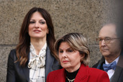 Gloria Allred (right), who represents three of Harvey Weinstein's accusers, stands beside Weinstein's lawyer Donna Rotunno before they spoke to the media outside court after Weinstein was found guilty of a criminal sexual act and third degree rape on February 24, 2020 in New York City. A jury found the former movie producer guilty on two of the five potential criminal charges he faced at his trial. Weinstein will be sentenced on March 11 and faces 5-25 years in prison.