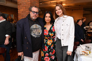 (L-R) Julian Schnabel, Kathrine Narducci, and Louise Kugelberg attend the 2019 Tribeca Film Festival Jury Lunch at Tribeca Grill Loft on April 25, 2019 in New York City.