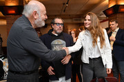 (L-R) Rob Reiner, Julian Schnabel, Louise Kugelberg attend the 2019 Tribeca Film Festival Jury Lunch at Tribeca Grill Loft on April 25, 2019 in New York City.