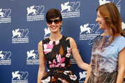 Jury members Alix Delaporte (R) and Paz Vega attend the Orizzonti Jury Photocall during the 72nd Venice Film Festival on September 2, 2015 in Venice, Italy.