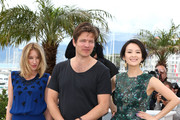 (L-R) Jury members actress Ludivine Sagnier, Jury President Thomas Vinterberg and Jury member actress Zhang Ziyi attend the Jury 'Un Certain Regard' Photocall during the 66th Annual Cannes Film Festival at the Palais des Festivals on May 16, 2013 in Cannes, France.