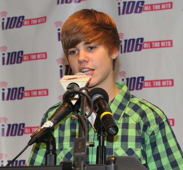 justin bieber thinks pictures. Justin Bieber speaks at a