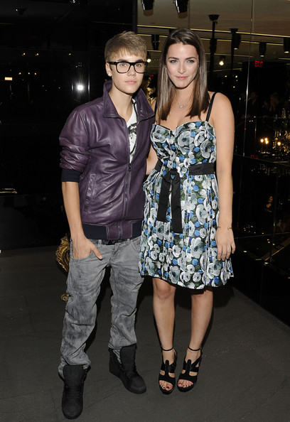 Justin Bieber Justin Bieber and Bee Shaffer attend the Dolce & Gabbana Boutique on September 8, 2011 in New York City.