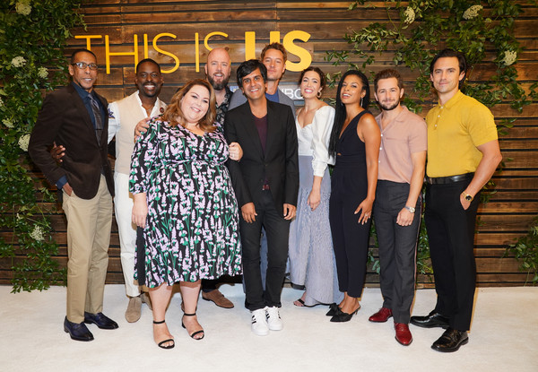 NBC's 'This Is Us' Pancakes With The Pearsons - Arrivals [this is us,social group,people,event,team,family,formal wear,ceremony,pearsons - arrivals,ron cephas jones,justin hartley,siddhartha khosla,mandy moore,pancakes,l-r,hotel west hollywood,nbc]