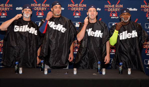 Gillette Brings #FLEXBALL to the Home Run Derby [team,talent show,performance,event,outerwear,music,rapping,rapper,crew,major league baseball,national league,gillette brings flexball,contact shave,l-r,gillette home run derby,home run derby,representatives,todd frazier,giancarlo stanton]