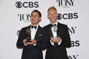 Justin Paul 2017 Tony Awards - Press Room