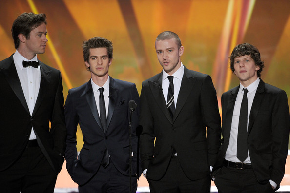 17th Annual Screen Actors Guild Awards - Show [suit,formal wear,tuxedo,event,white-collar worker,businessperson,california,los angeles,the shrine auditorium,screen actors guild awards,show,actors,armie hammer,jesse eisenberg,andrew garfield,justin timberlake]