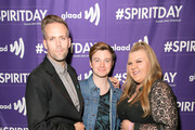 Justin Tanter, Chris Colfer and Ashley Fink at Justin Tranter And GLAAD Present 'Believer' Spirit Day Concert at Sayer's Club on October 18, 2017 in Los Angeles, California.
