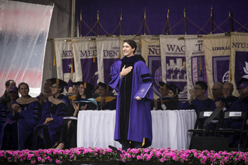Justin Trudeau Canadian Prime Minister Justin Trudeau Gives Commencement Address At NYU's Graduation Ceremony