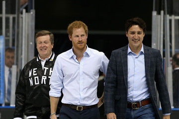 Justin Trudeau John Tory Prince Harry Launches The Invictus Games In Toronto