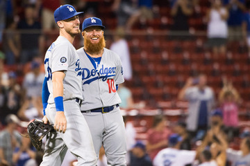 Justin Turner Los Angeles Dodgers vs Boston Red Sox