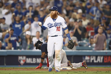 Justin Turner World Series - Boston Red Sox v Los Angeles Dodgers - Game Three