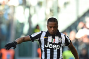 Patrice Evra of Juventus FC controls the ball during the Serie A match between Juventus FC and AC Chievo Verona at Juventus Arena on January 25, 2015 in Turin, Italy.