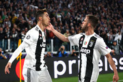 Cristiano Ronaldo and Miralem Pjanic Photos Photo