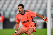Gianluigi Buffon of Juventus F.C. looks on during the Serie A match between Juventus and Cagliari Calcio at Allianz Stadium on November 21, 2020 in Turin, Italy. Football Stadiums around Europe remain empty due to the Coronavirus Pandemic as Government social distancing laws prohibit fans inside venues resulting in fixtures being played behind closed doors.