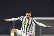 Aaron Ramsey of Juventus  during the UEFA Champions League Group G stage match between Juventus and Dynamo Kyiv at Allianz Stadium on December 02, 2020 in Turin, Italy. Sporting stadiums around Italy remain under strict restrictions due to the Coronavirus Pandemic as Government social distancing laws prohibit fans inside venues resulting in games being played behind closed doors.