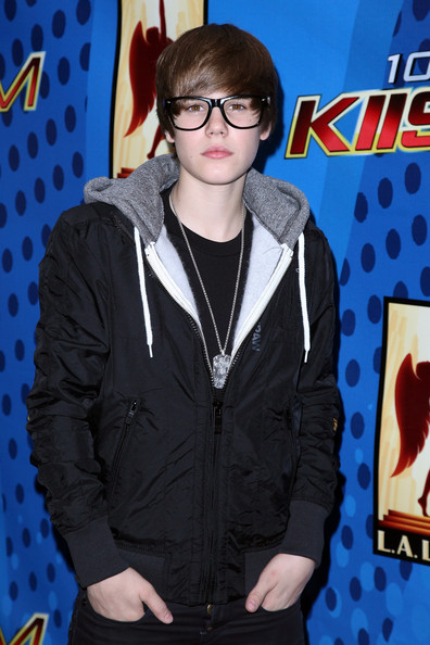 Singer Justin Bieber poses after his free concert presented by KIIS-FM at Nokia Plaza L.A. Live on February 13, 2010 in Los Angeles, California.