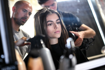 Kaia Gerber Alexander Wang - Backstage - June 2018 - New York Fashion Week