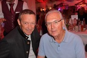 Michael Roll and Franz Beckenbauer during a bavarian evening ahead of the Kaiser Cup 2019 on July 12, 2019 in Bad Griesbach near Passau, Germany.