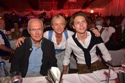 Franz Beckenbauer, his son Joel Beckenbauer and his wife Heidi Beckenbauer during a bavarian evening ahead of the Kaiser Cup 2019 on July 12, 2019 in Bad Griesbach near Passau, Germany.