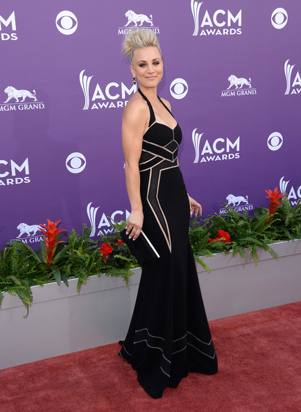 48th Annual Academy Of Country Music Awards - Arrivals [red carpet,carpet,dress,clothing,shoulder,fashion,flooring,hairstyle,gown,premiere,arrivals,kaley cuoco,nevada,las vegas,mgm grand garden arena,academy of country music awards]