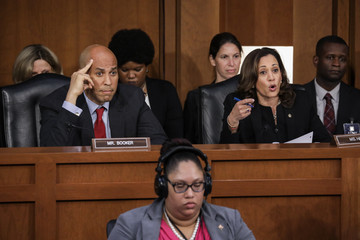Kamala Harris Senate Holds Confirmation Hearing For Brett Kavanugh To Be Supreme Court Justice