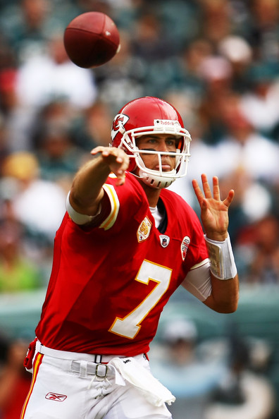 Matt Cassel Quarterback Matt Cassel #7 of the Kansas City Chiefs passes against  the Philadelphia Eagles during their game on September 27, 2009 at Lincoln Financial Field in Philadelphia, Pennsylvania.