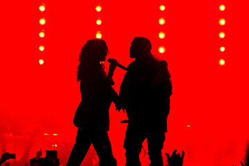 Kanye West Rihanna DirecTV Super Saturday Night Hosted By Mark Cuban's AXS TV And Pro Football Hall Of Famer Michael Strahan - Show