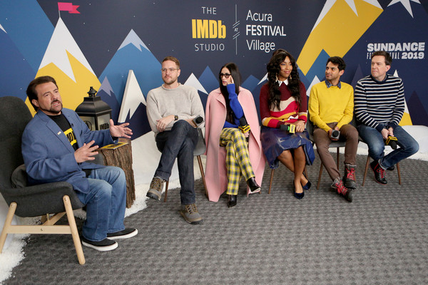 The IMDb Studio At Acura Festival Village On Location At The 2019 Sundance Film Festival – Day 4 [social group,youth,event,community,fun,team,karan soni,ed helms,jessica williams,demi moore,patrick brice,kevin smith,animals,imdb studio at acura festival village on location,the imdb studio,sundance film festival]