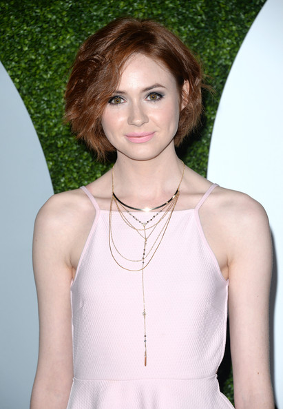 Karen Gillan Actress Karen Gillan attends the 2014 GQ Men Of The Year party at Chateau Marmont on December 4, 2014 in Los Angeles, California.