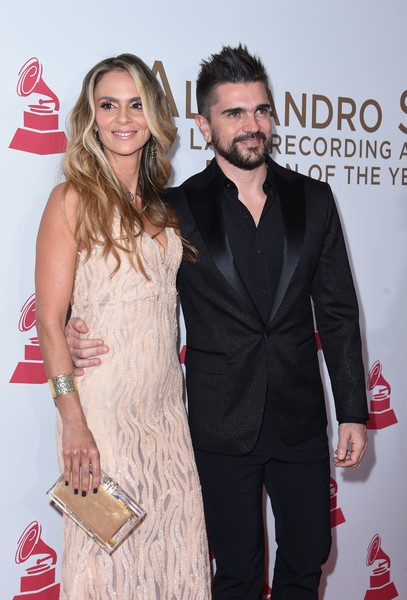 2017 Person of the Year Gala Honoring Alejandro Sanz - Arrivals [person of the year gala,photo,premiere,coca-cola,fashion,event,suit,dress,carpet,cola,drink,cocktail dress,arrivals,alejandro sanz,juanes,karen martinez,colombian,spanish,gala,latin recording academy person of the year]