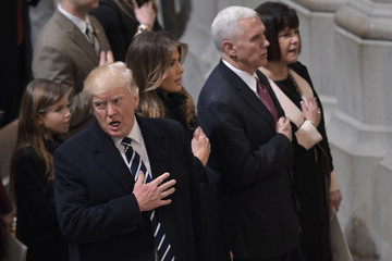 Karen Pence President Trump And Vice President Pence Attend National Prayer Service At The National Cathedral