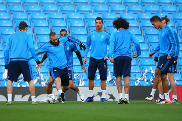 Karim Benzema Real Madrid Training Session and Press Conference