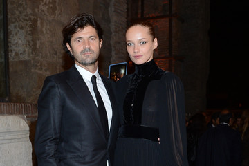 Karmen Pedaru with cool, Husband Riccardo Ruini