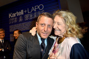 Lapo Elkann and Marta Marzotto attend Kartell+Lapo. It's A Wrap! Party on April 12, 2016 in Milan, Italy.