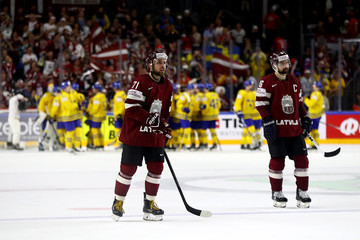 Kaspars Daugavins Sweden v Latvia - 2017 IIHF Ice Hockey World Championship