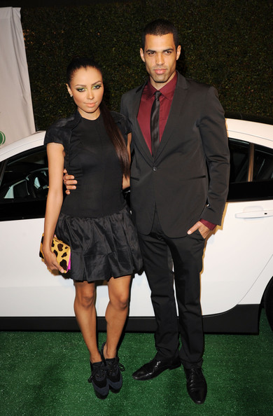 Kat Graham Actress/singer Kat Graham (L) and guest arrive at Global Green USA's 9th Annual Pre-Oscar Party Supporting Green Schools and Green Communities at Avalon on February 22, 2012 in Hollywood, California.