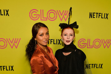 Kat Graham Netflix's 'Glow' Celebrates Its 10 Emmy Nominations With Roller-Skating Event