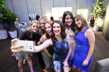 Kate Lambert Caitlin Barlow Behind The Scenes of the Getty Images Portrait Studio Powered By Samsung Galaxy At Comic-Con International 2015