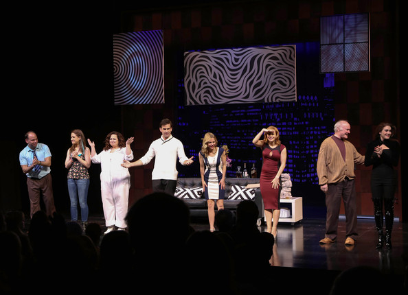 'Under My Skin' Opening Night [andrew polk,allison strong,megan sikora,dierdre friel,kerry butler,matt walton,edward james hyland,kate loprest,under my skin,entertainment,performance,performing arts,heater,event,stage,musical,musical theatre,drama,theatre,shubert theatre]