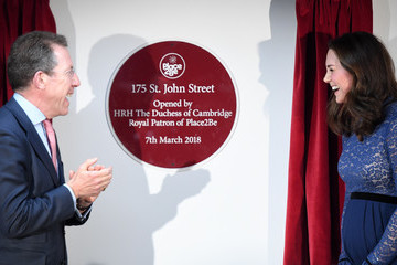 Kate Middleton The Duchess Of Cambridge Opens New Place2B Headquarters