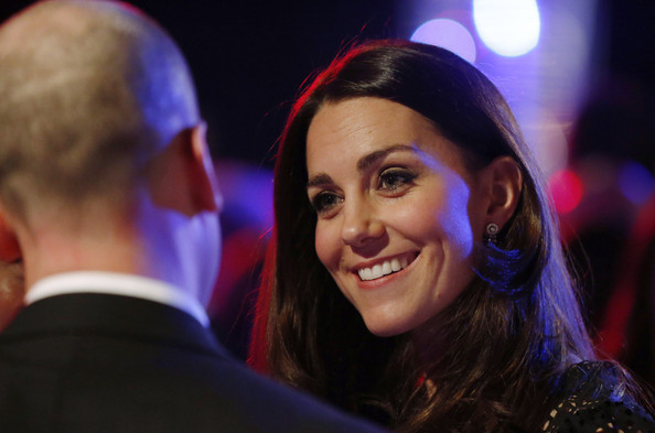 Kate Middleton Catherine, Duchess of Cambridge, patron of SportsAid charity, meets young athletes at the SportsBall, the charity's annual gala dinner at Victoria Embankment Gardens on November 28, 2013  in London, England.